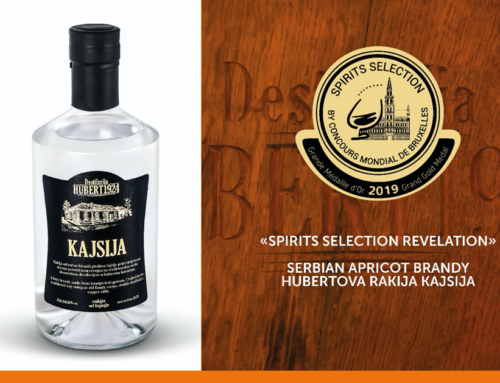 2019 revelation award for the Serbian apricot rakia by Hubert 1924